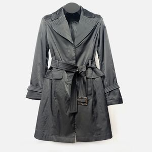 Contemporaine Simons Belted Black Trench Coat XS